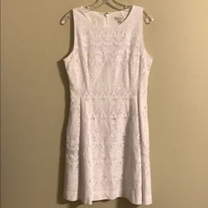 Eva Mendes New York & Co white lace dress 10